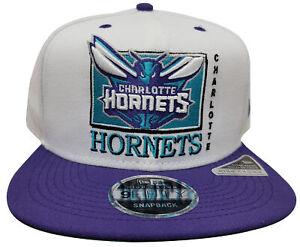 Men's New Era 9Fifty Charlotte Hornets White/Purple Team Retro Snapback
