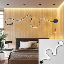 Modern LED Dining Room Light Acrylic S Shape Ceiling Lamp Bedroom Chandelier
