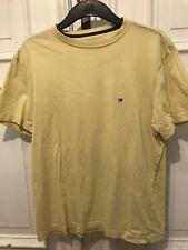 Tommy Hilfiger Vintage Rundhals Basic T-Shirt T Shirt Gelb Gr. S 100% Baumwolle