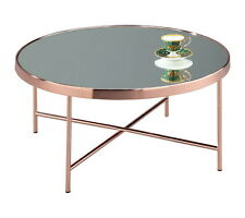 mirror table. fino mirrored/glass round coffee table(copper/mirror)-ct14mr mirror table