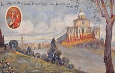 3292) BASILICA DI SAN LUCA IMMAGINE DELLA MADONNA E PANORAMA DI BOLOGNA VG 1937