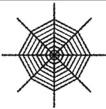 """Shimmering Spiderweb Black 72""""x 72"""" 6 ft - Halloween Decor Great For Party - NIP"""