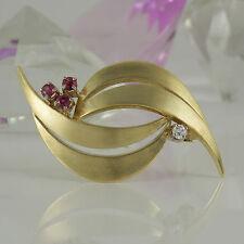 Reinheit VS Echtschmuck-Broschen & -Anstecknadeln aus Gelbgold mit Diamant für Damen