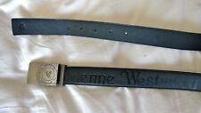 Vivienne Westwood Mens Black Leather Belt