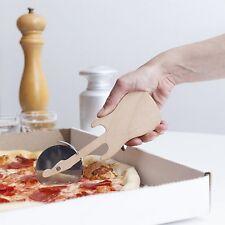 "Kikkerland rockin 'guitar pizza cutter acier inoxydable 2.5"" roue en bois coupe"