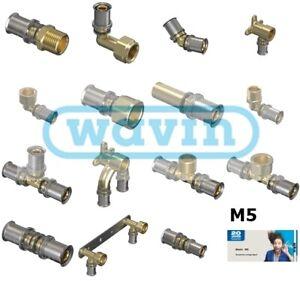 Wavin Buderus Logafix NEU Tigris M5 Wandscheibe Rohr T-Stück  Pressfitting