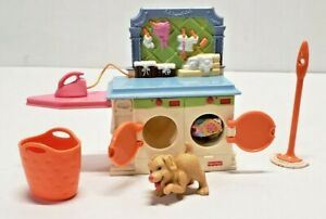 FISHER PRICE LOVING FAMILY ACCESSORIES LAUNDRY ROOM FURNITURE WASHING MACHINE