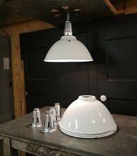 """VTG Benjamin White Porcelain Enamel Light Fixture 20"""" Barn Industrial Deep Bowl"""