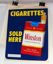 Original 1970's Winston Cigarette Sold Here Window Decal