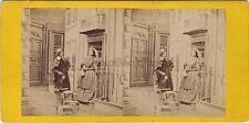 Scène de genre Exhibition Stéréo Vintage albumine ca 1870