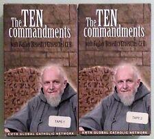 THE TEN COMMANDMENTS with father benedict groeschel cfr VHS VIDEOTAPE 2 tape set