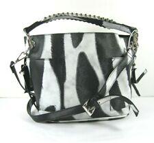 7366aed2aa Steve Madden NWT $68 Black White Crossbody Bucket Shoulder Bag Sammy Small  Logo