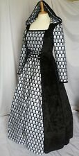 Gothic Hooded Skull Dress Halloween Costume Ready Made  to size 14  16