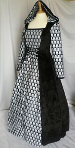Gothic Hooded Skull Dress Halloween Costume Ready Made Size 14-16