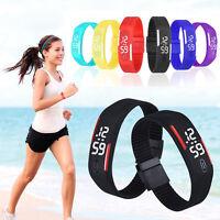 New Luxury Womens Mens Digital LED Sports Silicone Bracelet Wrist Watch Hot Sale