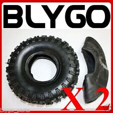 "2X GL 2PLY 3.50 / 4.10 - 4"" inch Tyre Tire + Tube  49cc Mini Quad Dirt Bike ATV"