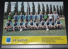 CLIPPING POSTER FOOTBALL 1985-1986 LE HAVRE ATHLETIC CLUB HAC JULES-DESCHASEAUX