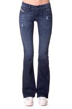 DIESEL W25 L32 Livier-Flare 0668F Distressed Faded Super Slim Flare Fit Jeans