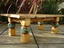 Rustic Solid Chunky Wooden Coffee Table Handmade Bespoke Individual Design