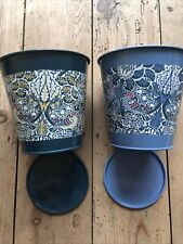 Briers William Morris Floral Botanical Metal Herb Plant Pot Garden Home Gifts