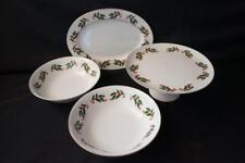 4 Pcs Fine China of Japan, 1 Platter, 2 Round Serving Bowls, 1 Pestal Cake Stand
