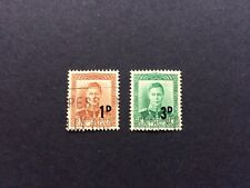 New Zealand 1952-1953; Surcharge set; SG712-713; good used.