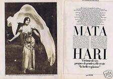 Coupure de presse Clipping 1983 Mata Hari    (4 pages)