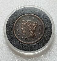 1848 Braided Hair Cent **Historic Date** Collector Coin *BETTER Condition*