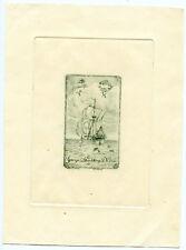 George Spaulding DeVoe 1941 Bookplate Engraving Etching Signed Will Simmons