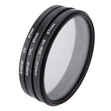 Andoer 67mm Filter Set UV + CPL Filter + Star 8 filter Kit + Bag for Canon Nikon