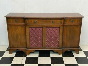 Antique Regency style four door mahogany breakfront sideboard credenza -Delivery