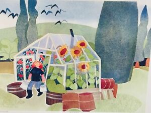 RIE MUNOZ ARTIST PROOF 6/50 GREENHOUSE 1986 LITHOGRAPH HAND SIGNED LTD EDITION