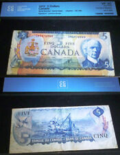 ERROR. CUT OUT OF REGISTER. BANK OF CANADA 1972 $5