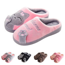 67ddd66ff605 Women s Winter Home Slippers Cartoon Cat Home Non-slip Soft Couple Floor  Shoes