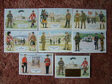 THE BRITISH ARMY SERIES - NEW REGIMENTS AND CORPS. 7 card set.  Mint Condition.