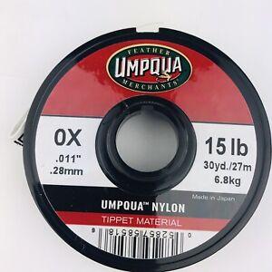 Umpqua 0X 15 LB .28mm .011 Inch Tippet 30 Yard