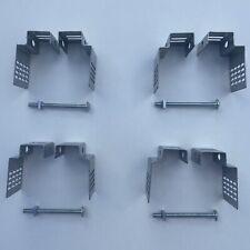 Postfix Universal Concrete Fence Post Brackets X 4 No Drilling Heavy Duty 3.5''