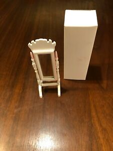 CONCORD DOLLHOUSE BEAUTIFUL WHITE-PINK STANDING MIRROR #6257WP M/OB, LQQK!