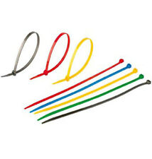 """600 PCS 8"""" ASSORTED Colored Cable Wire Zip Tie 40 Lbs Industrial Packing Retail"""