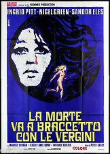 LA MORTE VA A BRACCETTO CON LE VERGINI MANIFESTO CINEMA HORROR 1971 POSTER 4F