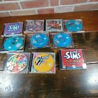 Lot Of 10. The Sims  Pc Cd Rom Computer Video Games / Expansion Packs