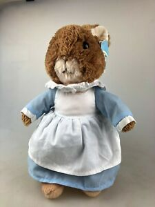 MRS RABBIT PLUSH TOY 28CM - SWING TAG ATTACHED BUT USED - PETER RABBIT