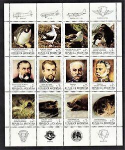 Argentina 1983 Mi#1666/77 Pioneers. Fauna. Birds. Nature. Antarctica. Set MNH