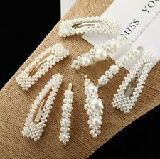 8 set Hair Accessories Bowknot Hair pins Flower Pearl Hair Clips And Pins For Gi