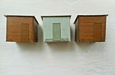 HO SCALE THREE HEAVY CARDBOARD HUT FORMERS OR OUT BUILDINGS