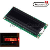 5V LCD 1602A 16x2 Dot Matrix Red Character LCD Screen Module Black Background