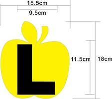 Good Look Yellow Apple L-Plate reflective car decal sticker vinyl outside gifts