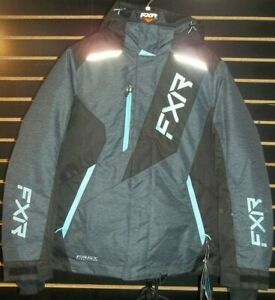 NEW FXR WOMENS PULSE JACKET GREY/SKY BLUE 210227-0753-12
