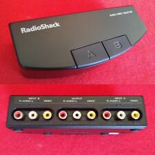 2-Way Switch RCA Composite Audio/Video Two Button Selector Splitter RadioShack