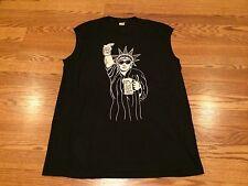 Rare 1983 NYC Statue Of Liberty Rock & Roll Beer Screen Stars Tank Top Shirt XL